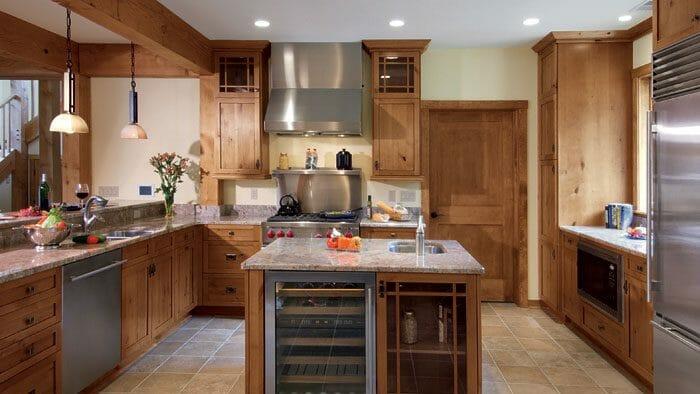 knotty alder kitchen cabinets