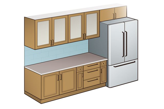 standard kitchen counter depth