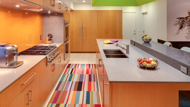 Flooring for Kitchen with rugs