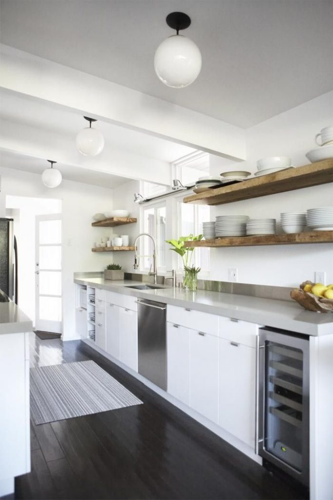 Small Kitchen floating shelves