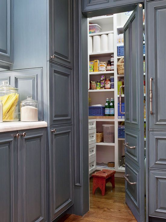 Concealed pantry design