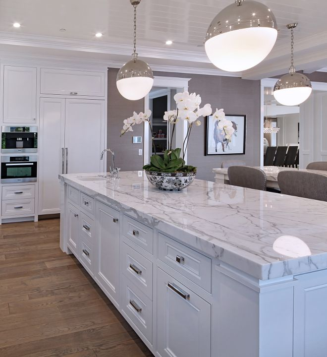 Grey marble Kitchen Design Ideas