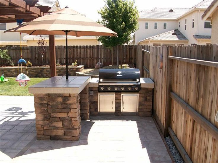 Outdoor Kitchen for Small Backyard