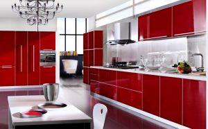 red Kitchen Cabinet Design Ideas