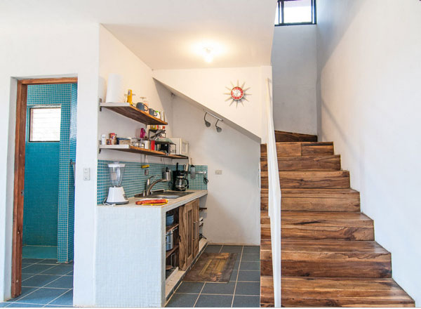 Full Small Kitchen Under Stairs