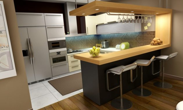 Best Ideas for Small Kitchen Design with Minibar