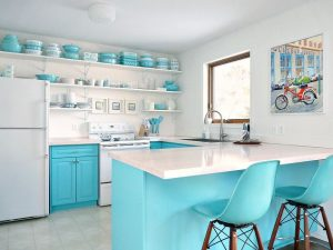 Turquoise Kitchen Design Ideas and the Unique Appeal of the Hue