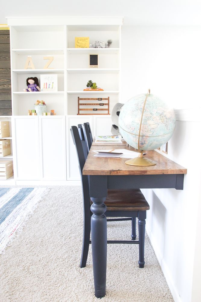 Tables Attached To The Kitchen Wall