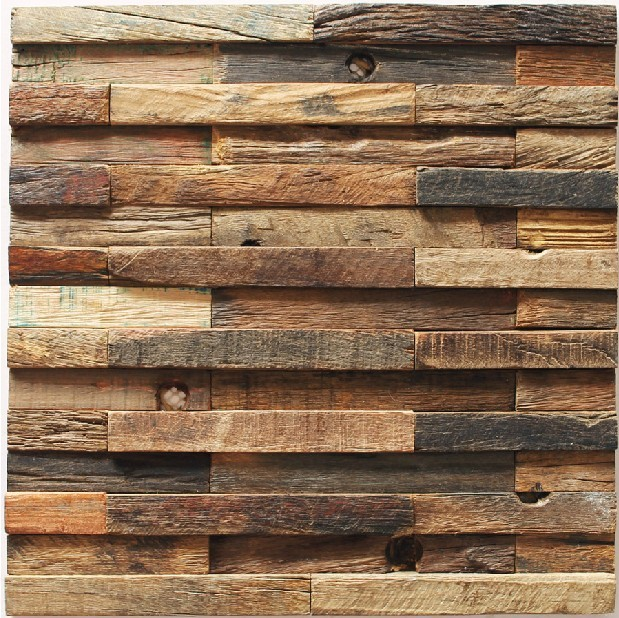 Classic Wood Mosaic kitchen backsplash