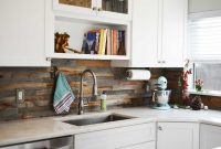 Reclaimed Hardwood Kitchen backsplash