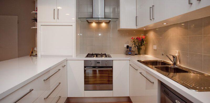 Thin U Shaped Kitchen