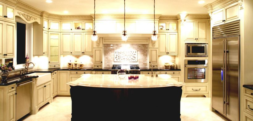 U-Shaped Kitchen with double island
