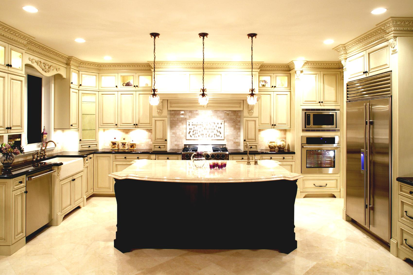 U Shaped Kitchen With Double Island