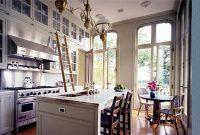 rolling ladder kitchen