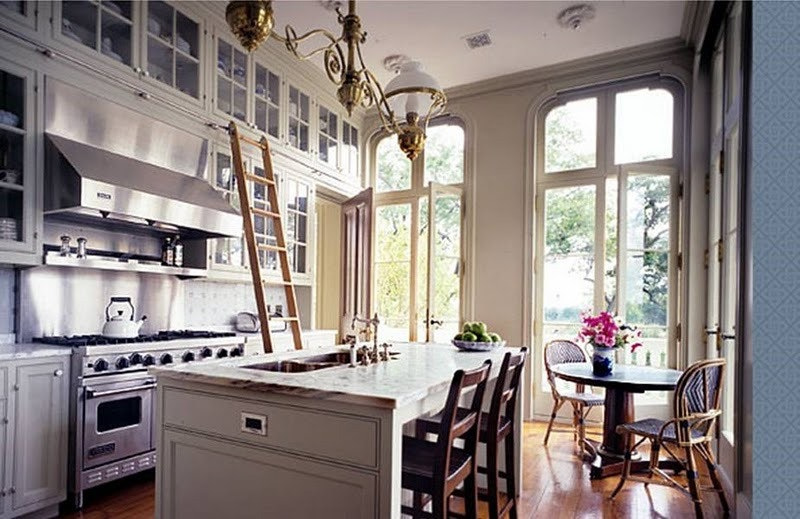rolling ladder kitchen