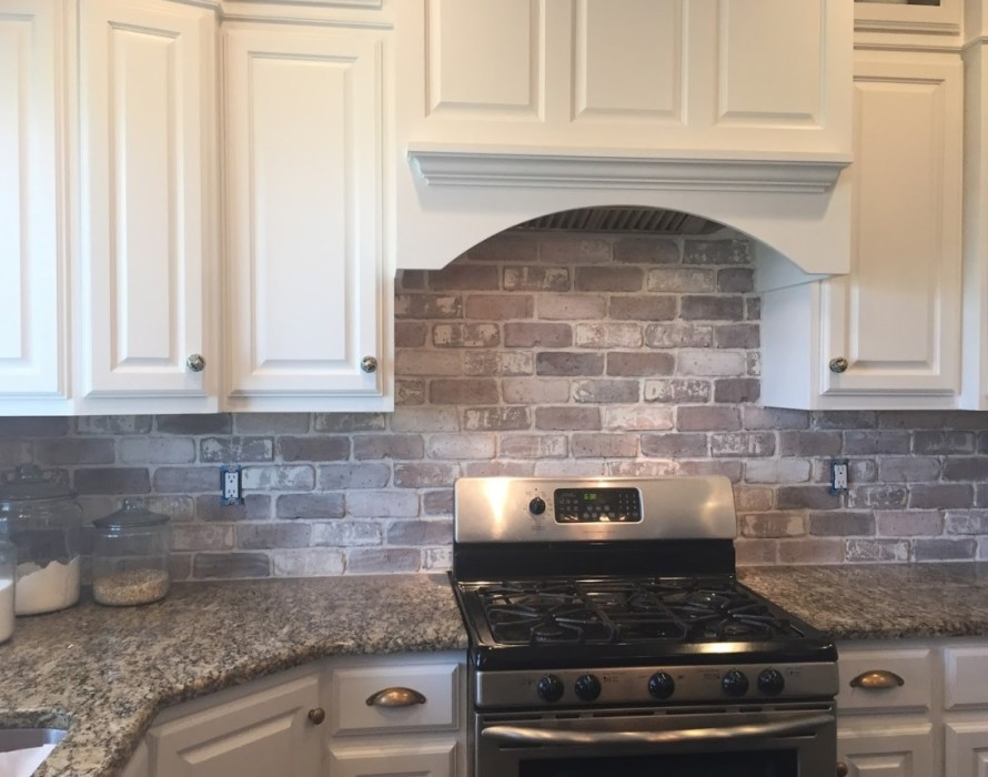 tile backsplash simple brick