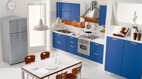 Bold Colored Kitchen Cabinets
