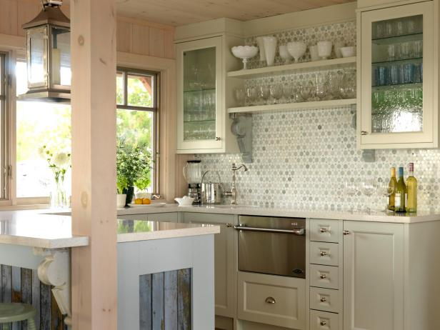 7 Ideas Of DIY Glass Kitchen Cabinet Doors
