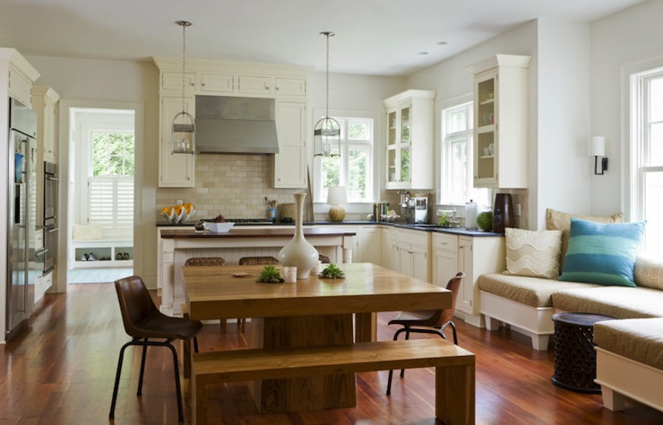 Window-Seat Kitchen Island Bench
