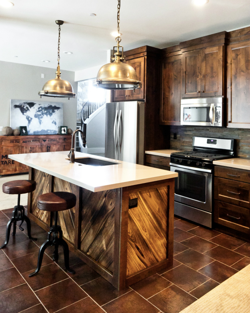 Wooden Clad Rustic Kitchen