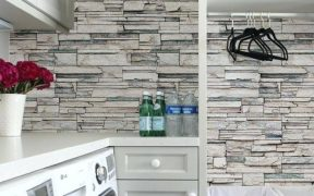 Kitchen Wallpaper That Looks Like Tiles