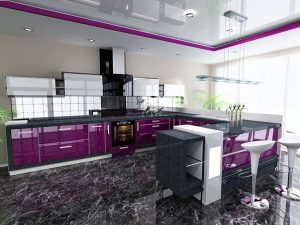 Purple kitchen design ideas for a Daring and Royal Look