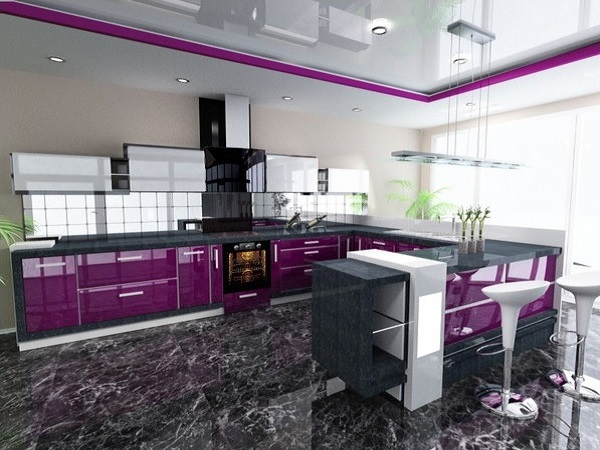 Purple kitchen design ideas