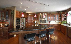 brown big kitchen