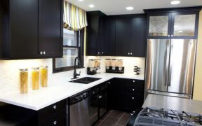 Black Cabinets for Kitchen