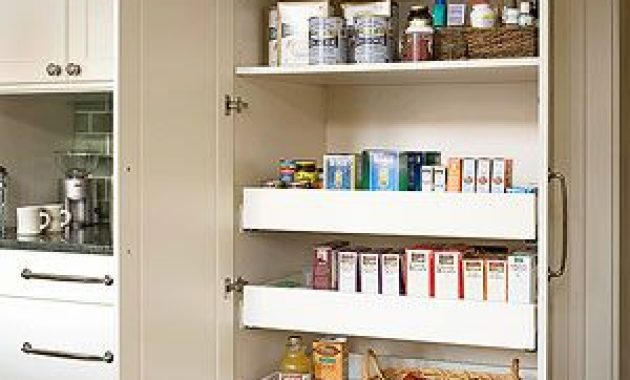 Built-in Kitchen Pantry Cabinets Ideas with Storage You Already Have At Home