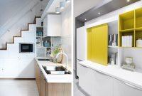 Linear Kitchen Under Stairs