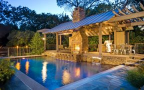 Outdoor Kitchen Design With Pool