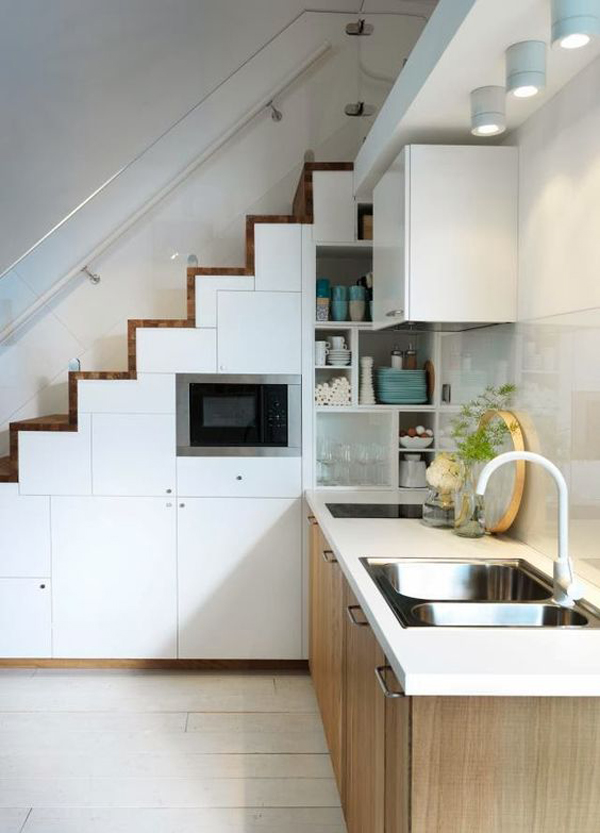 Scandinavian kitchen Under Stairs
