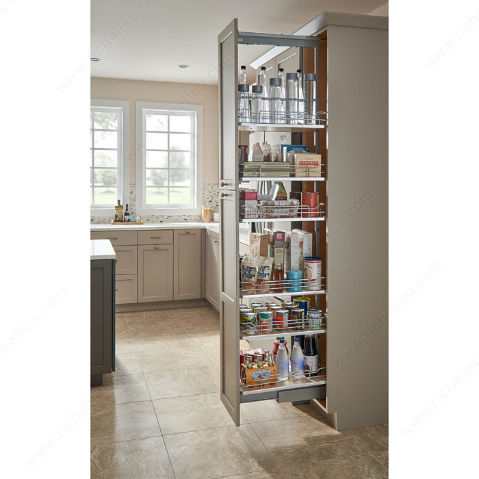 narrow roll-out cabinet