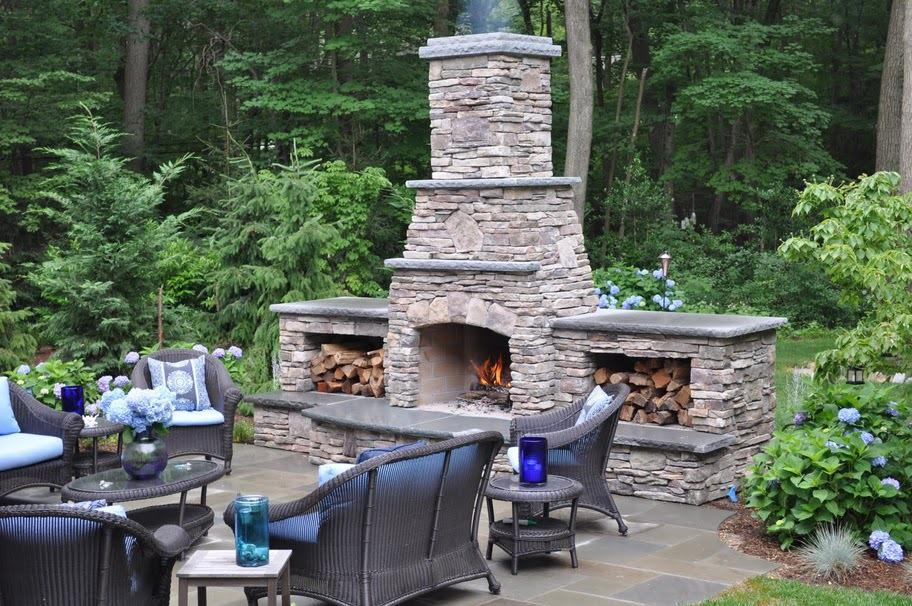 outdoor fireplace for cooking