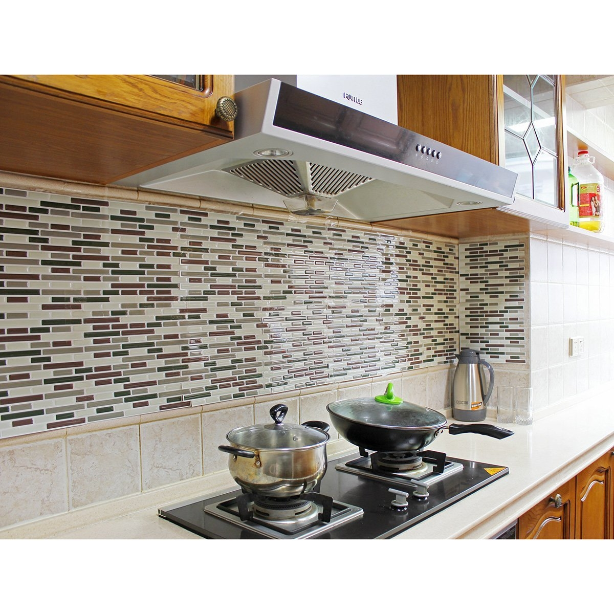 adhesive stickers for kitchen tiles Unique Fancy fix Vinyl Peel and Stick Decorative Backsplash Kitchen Tiles