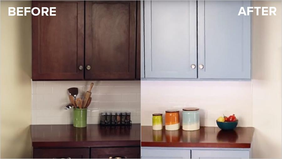 Kitchen Cabinet oil Priming