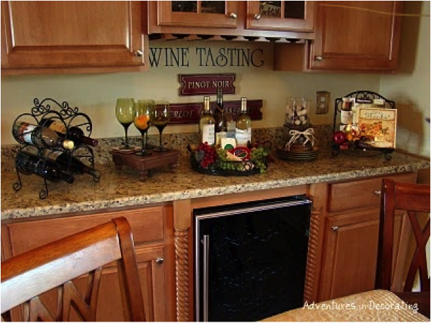 Kitchen Wine Decoration
