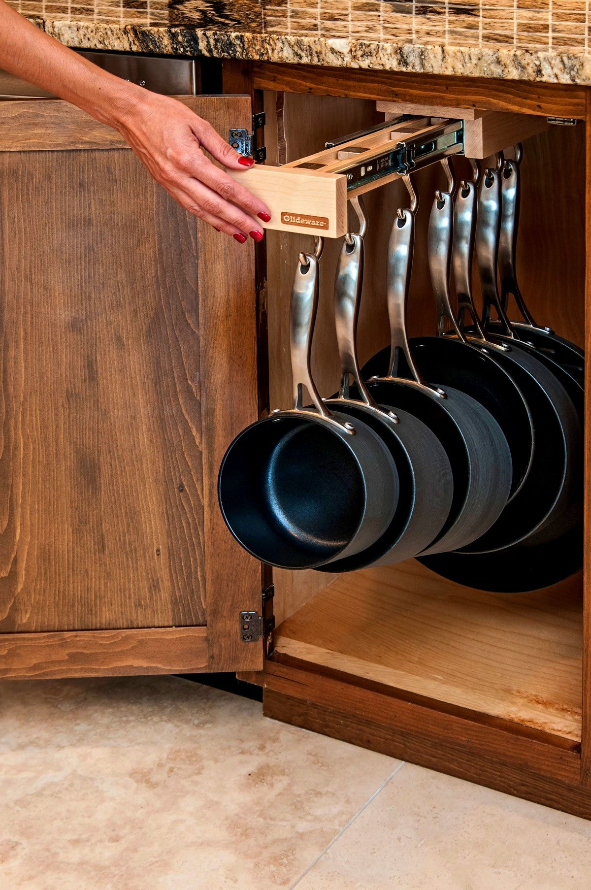 Pot and Pan Rack reachable