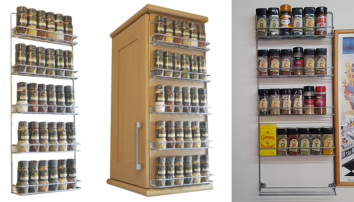 Wall Mount Spice Rack types