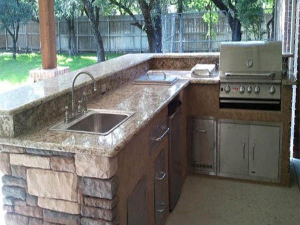 outdoor kitchen basic arrangement