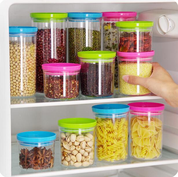 plastic containers in the kitchen