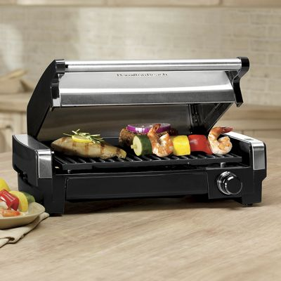 Hamilton Beach Searing Grill with lids