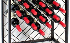 Mango Steam 32 Bottle Wine Rack With Glass Table Top