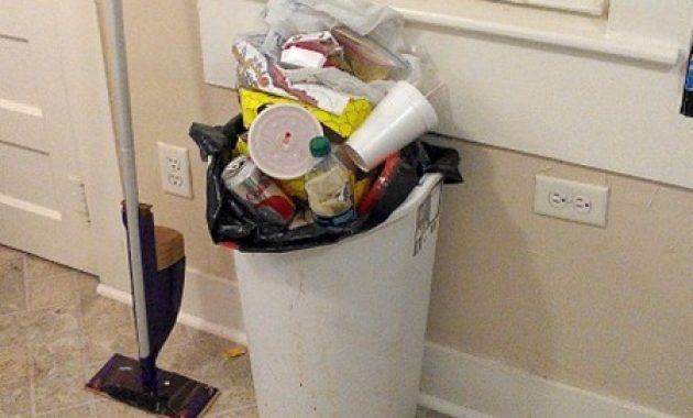 How To Clean Kitchen Trash Can with Lid