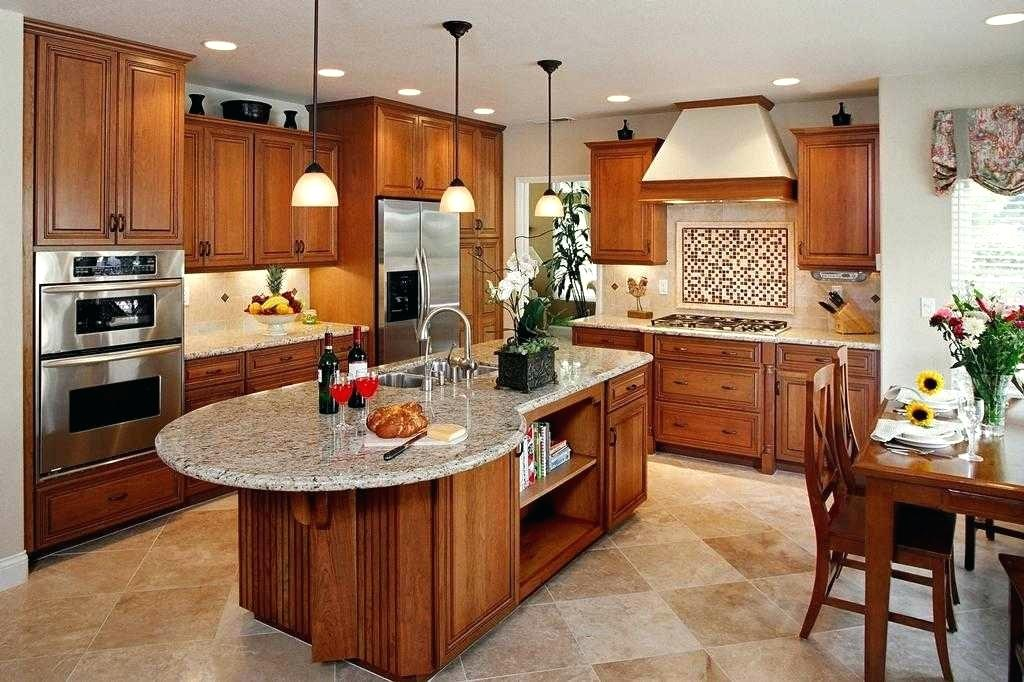 Kitchen Island unique shape