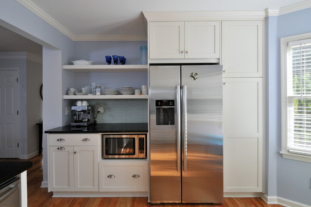 modern microwave placement