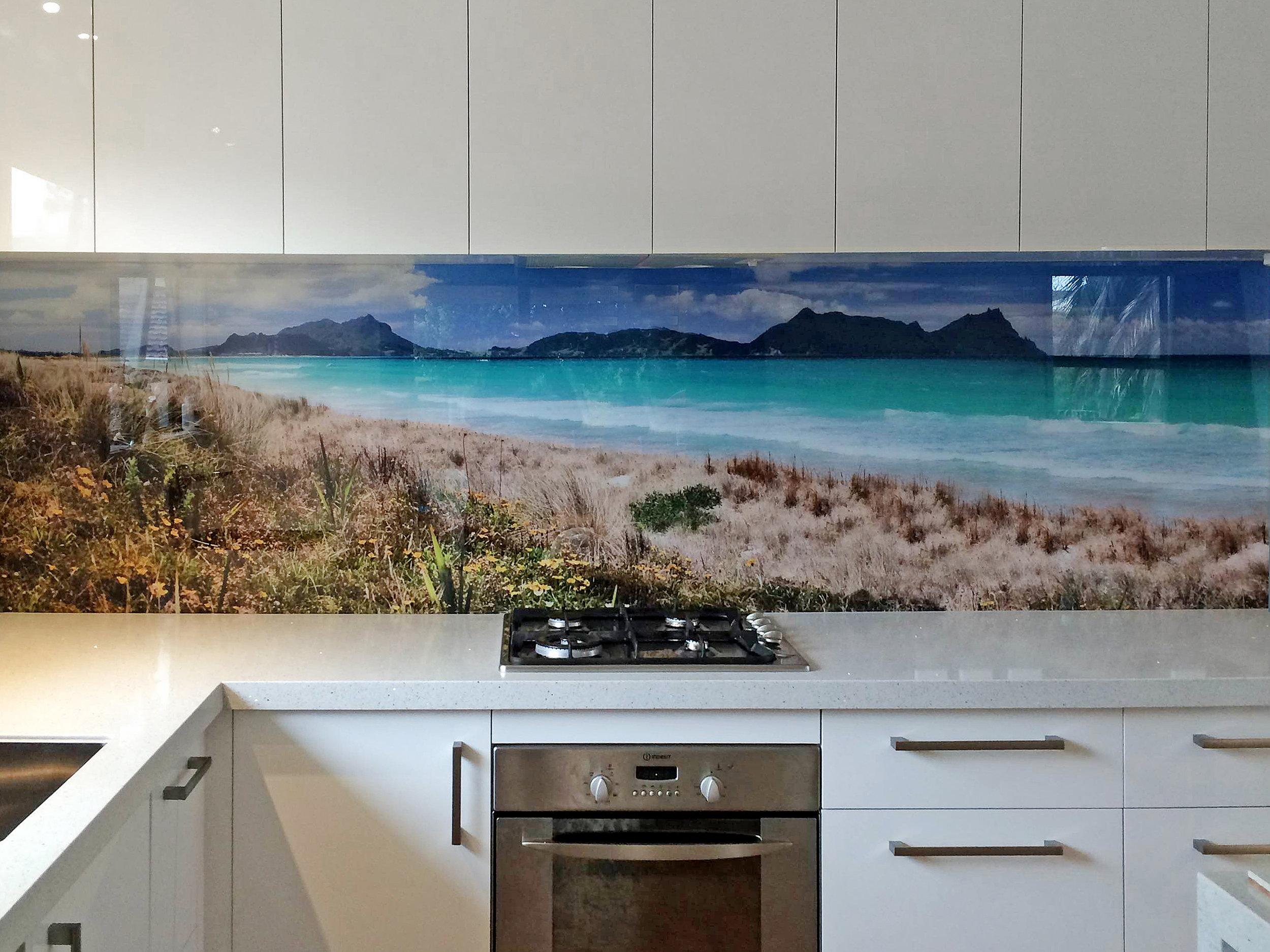 Natural Kitchen Glass Splashbacks