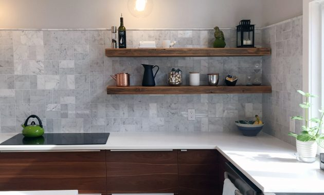 4 Factors To Have A Perfect Floating Kitchen Island Shelves