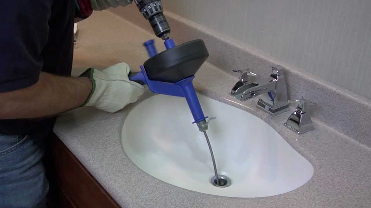 Cable Auger in the kitchen sink